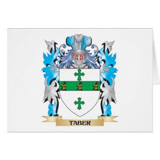 Escudo de armas de Taber - escudo de la familia Felicitación