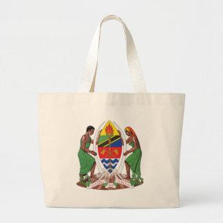 Escudo de armas de Tanzania Bolsas De Mano