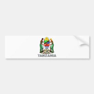 Escudo de armas de Tanzania Pegatina De Parachoque