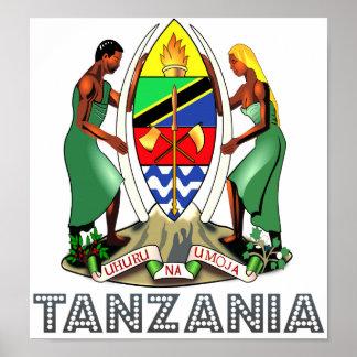 Escudo de armas de Tanzania Poster