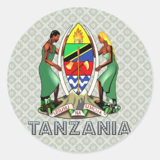 Escudo de armas de Tanzania Etiqueta Redonda