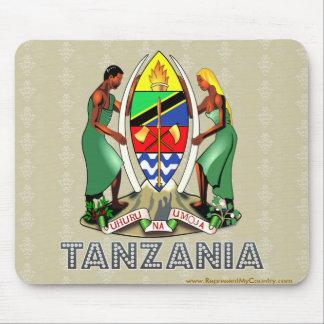Escudo de armas de Tanzania Tapetes De Ratones