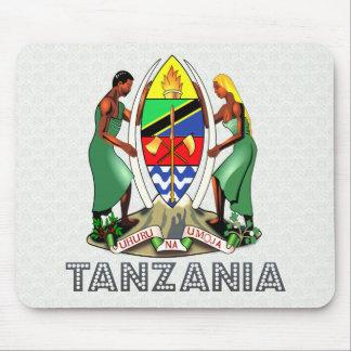 Escudo de armas de Tanzania Tapetes De Raton