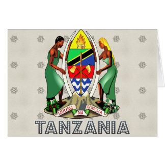 Escudo de armas de Tanzania Tarjetas