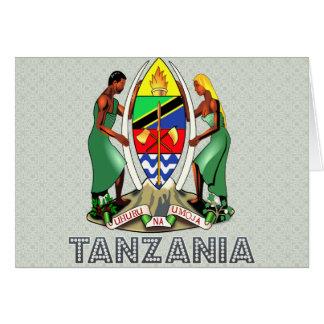 Escudo de armas de Tanzania Tarjeta