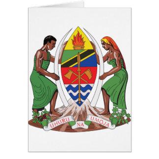 Escudo de armas de Tanzania Felicitacion