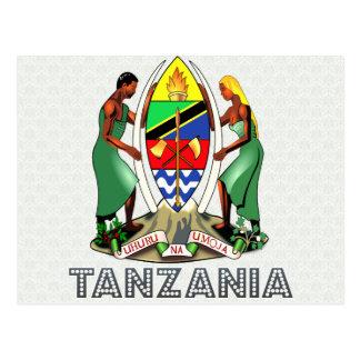 Escudo de armas de Tanzania Postales