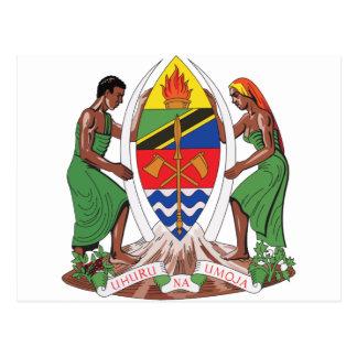 Escudo de armas de Tanzania Postal