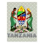 Escudo de armas de Tanzania Tarjeta Postal