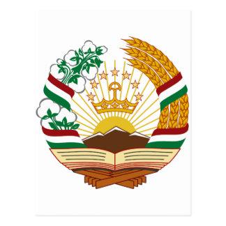 Escudo de armas de Tayikistán Tarjeta Postal