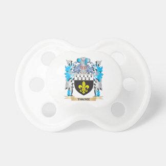 Escudo de armas de Thicke - escudo de la familia Chupetes De Bebé