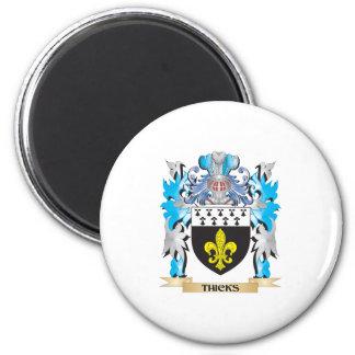 Escudo de armas de Thicks - escudo de la familia Imanes De Nevera