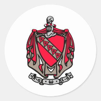 Escudo de armas de TKE Pegatina Redonda