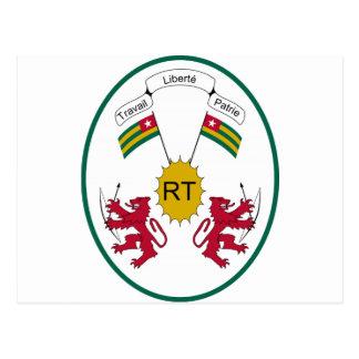 Escudo de armas de Togo Postal