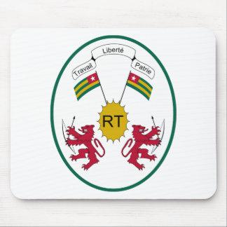 Escudo de armas de Togo Alfombrillas De Raton