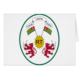 Escudo de armas de Togo Tarjeta De Felicitación