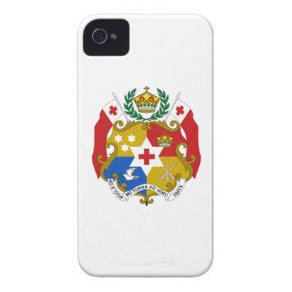 Escudo de armas de Tonga iPhone 4 Carcasas