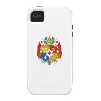 Escudo de armas de Tonga Vibe iPhone 4 Carcasa