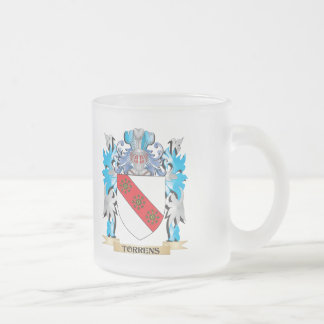 Escudo de armas de Torrens - escudo de la familia Taza Cristal Mate