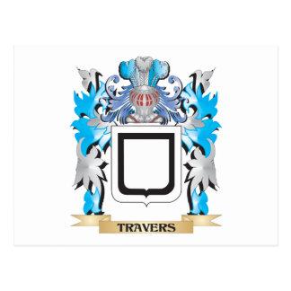 Escudo de armas de Travers - escudo de la familia Postal