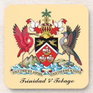 Escudo de armas de Trinidad and Tobago Posavasos