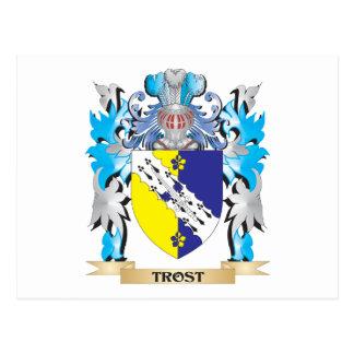 Escudo de armas de Trost - escudo de la familia Tarjeta Postal