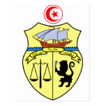 Escudo de armas de Túnez Tarjeta Postal
