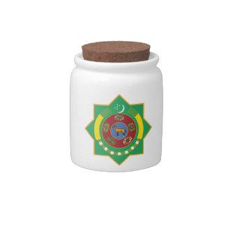 Escudo de armas de Turkmenistán Plato Para Caramelo