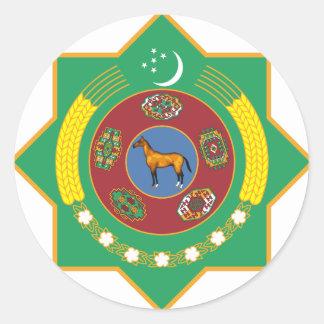 Escudo de armas de Turkmenistán Pegatinas Redondas
