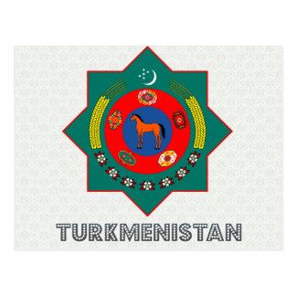 Escudo de armas de Turkmenistán Postal