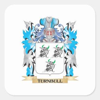 Escudo de armas de Turnbull - escudo de la familia Pegatinas Cuadradas Personalizadas