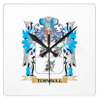 Escudo de armas de Turnbull - escudo de la familia Reloj De Pared