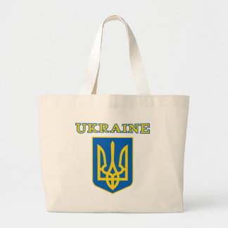 Escudo de armas de Ucrania Bolsa Tela Grande