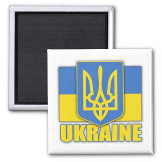 Escudo de armas de Ucrania Imán Cuadrado