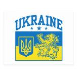 Escudo de armas de Ucrania Postales