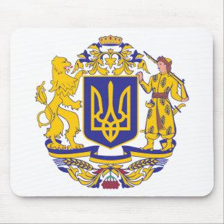 Escudo de armas de Ucrania Alfombrillas De Ratón