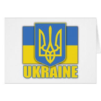 Escudo de armas de Ucrania Tarjeta De Felicitación