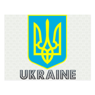 Escudo de armas de Ucrania Tarjeta Postal