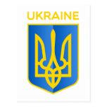 Escudo de armas de Ucrania Tarjetas Postales