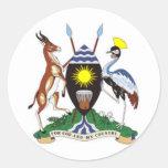 Escudo de armas de Uganda Etiquetas Redondas