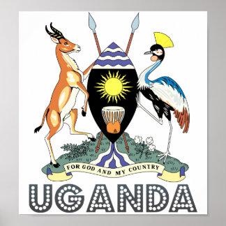 Escudo de armas de Uganda Posters