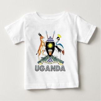 Escudo de armas de Uganda Playera Para Bebé