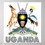 Escudo de armas de Uganda Póster