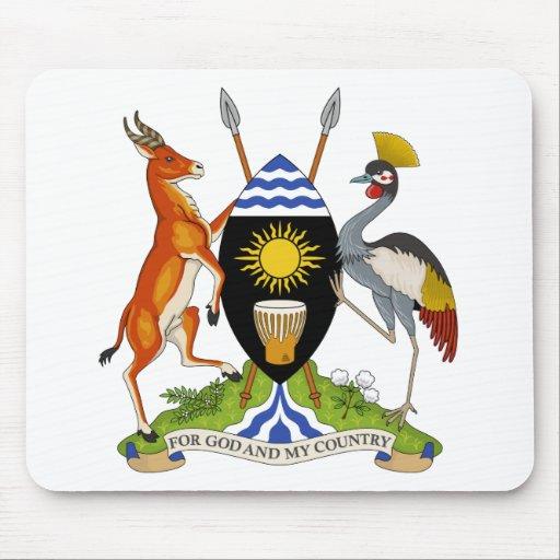 Escudo de armas de Uganda Tapetes De Raton