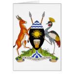 Escudo de armas de Uganda Tarjetas