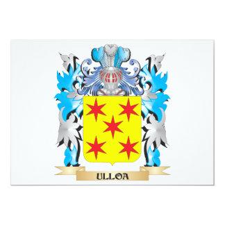 """Escudo de armas de Ulloa - escudo de la familia Invitación 5"""" X 7"""""""