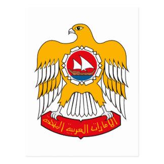 Escudo de armas de United Arab Emirates Tarjeta Postal