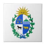 Escudo de armas de Uruguay Azulejo Cuadrado Pequeño