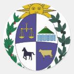 Escudo de armas de Uruguay Etiqueta Redonda