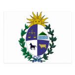 Escudo de armas de Uruguay Postales